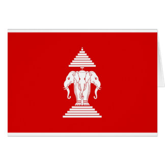 Flag of Laos (1952-1975) - ທຸງຊາດລາວ Card