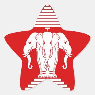 Flag of Laos (1952-1975) - ທຸງຊາດລາວ Star Sticker