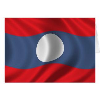 Flag of Laos Card