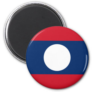 Flag of Laos - Laotian flag - ທຸງຊາດລາວ Magnet