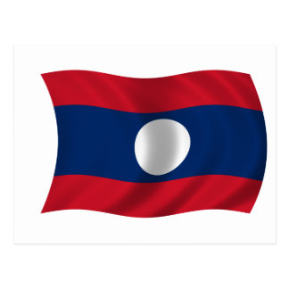 Flag of Laos Postcard