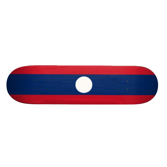 Flag of Laos Skateboard Deck