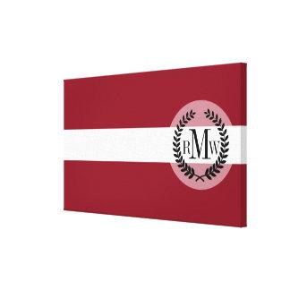 Flag of Latvia Canvas Print