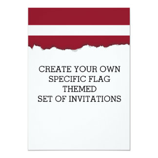 Flag of Latvia Card