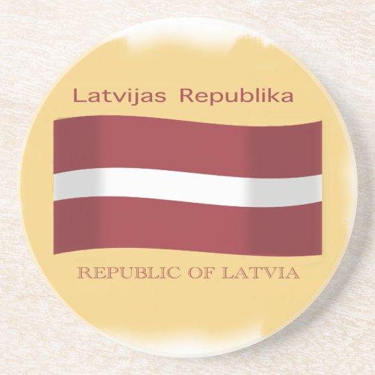 Flag of Latvia Coaster