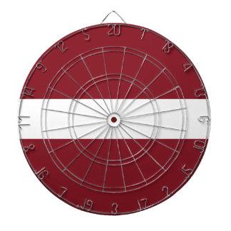 Flag of Latvia Dartboard