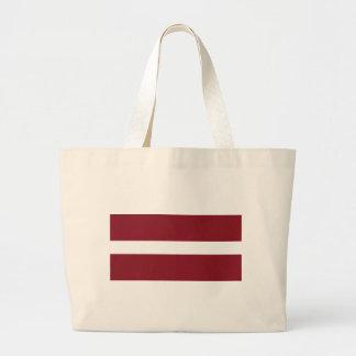 Flag of Latvia Large Tote Bag