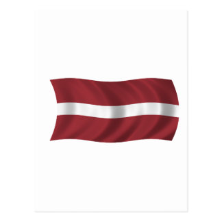 Flag of Latvia Postcard