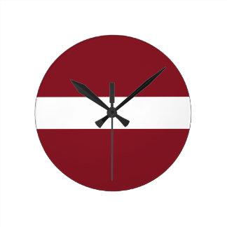 Flag of Latvia Round Clock