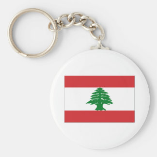 Flag of Lebanon Basic Round Button Keychain