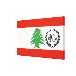Flag of Lebanon Canvas Print
