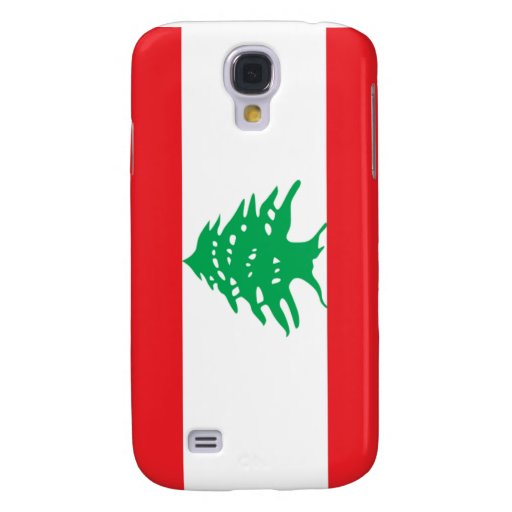 Flag of Lebanon Samsung Galaxy S4 Cases