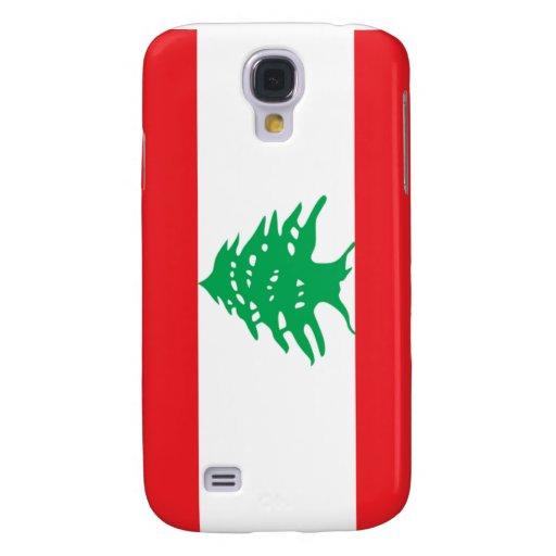 Flag of Lebanon Samsung Galaxy S4 Cases