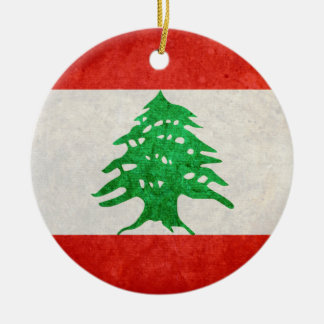 Flag of Lebanon Ceramic Ornament