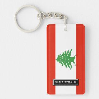 Flag of Lebanon Double-Sided Rectangular Acrylic Keychain