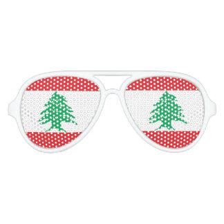 Flag of Lebanon, Fun Lebanese Flag Party Sunglasses
