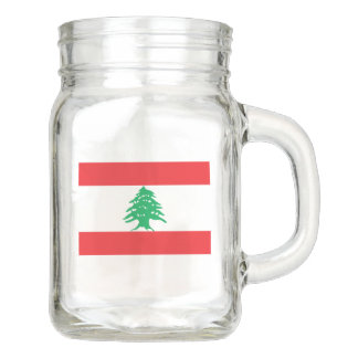 Flag of Lebanon Mason Jar