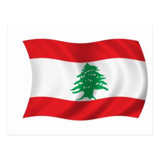 Flag of Lebanon Postcard