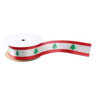 Flag of Lebanon ribbon Satin Ribbon