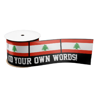 Flag of Lebanon Satin Ribbon