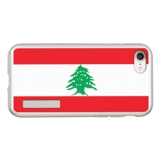 Flag of Lebanon Silver iPhone Case