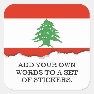 Flag of Lebanon Square Sticker