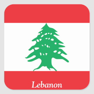 Flag of Lebanon Square Stickers