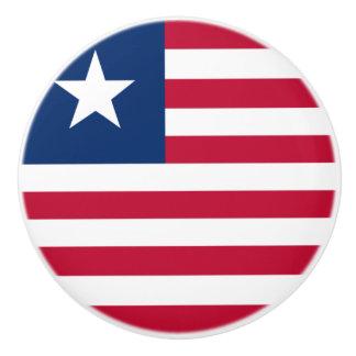 Flag of Liberia Ceramic Knob