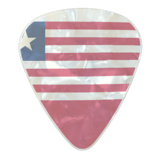 Flag of Liberia Guitar Picks Pearl Celluloid Guitar Pick