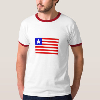 Flag of Liberia Mens Ringer T-Shirt