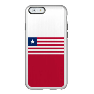 Flag of Liberia Silver iPhone Case