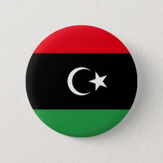 Flag of Libya on Pin / Button Badge
