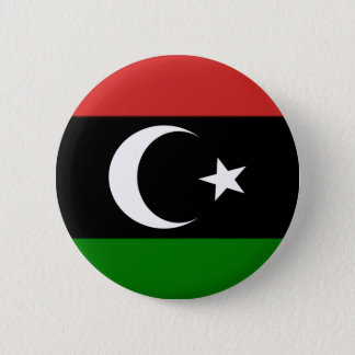 Flag of Libya pre-1977 2 Inch Round Button