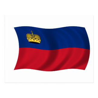 Flag of Liechtenstein Postcard
