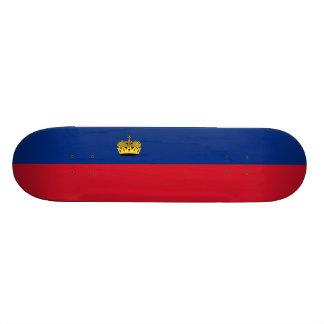 Flag of Liechtenstein Skateboard Deck
