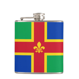 Flag of Lincolnshire Hip Flask