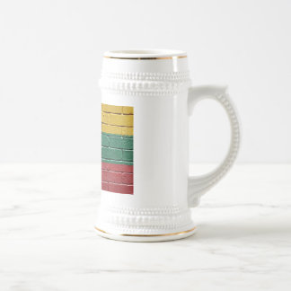 Flag of Lithuania 18 Oz Beer Stein