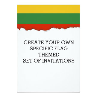 Flag of Lithuania Card