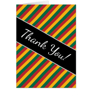 Flag of Lithuania Inspired Colored Stripes Pattern Card