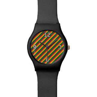 Flag of Lithuania Inspired Colored Stripes Pattern Watch