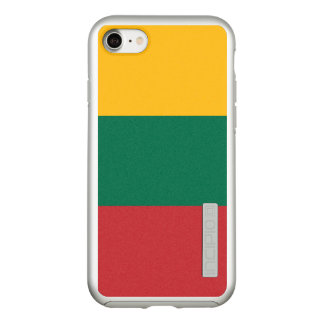 Flag of Lithuania Silver iPhone Case