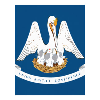 Flag Of Louisiana Letterhead
