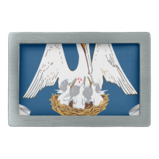 Flag Of Louisiana Rectangular Belt Buckle