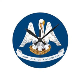 Flag Of Louisiana Round Clock