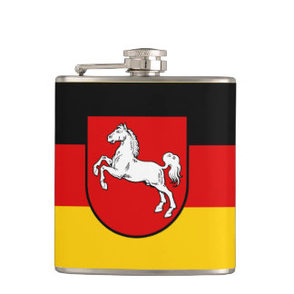 Flag of Lower Saxony Hip Flask