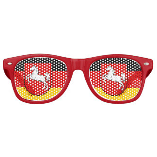 Flag of Lower Saxony Retro Sunglasses
