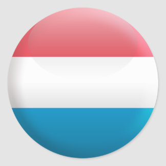Flag of Luxembourg Classic Round Sticker