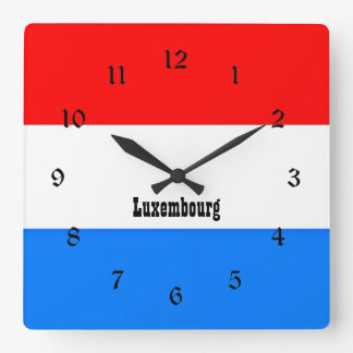 Flag of Luxembourg, custom design Square Wall Clock