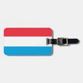 Flag of Luxembourg Luggage Tag w/ leather strap
