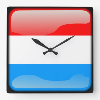 Flag of Luxembourg Wallclock